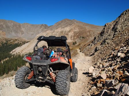 What is the best trail above the timberline for UTVs in Colorado