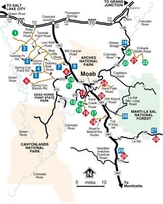 Map Of Moab Utah Moab ATV Trail Guide Book and Maps Map Of Moab Utah