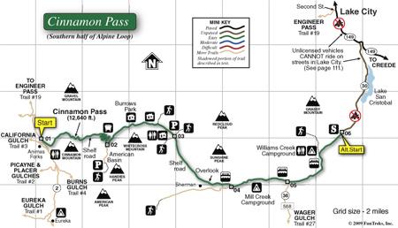 ATV Trails Guide Colorado Silverton, Ouray, Lake City Teluride