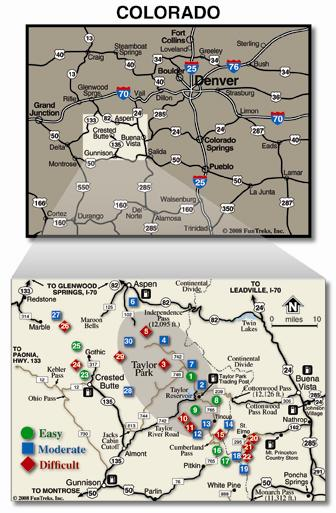 Atv Trails Guide Colorado Taylor Park Crested Butte