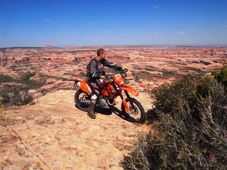 Salt Creek Canyon dirt bike