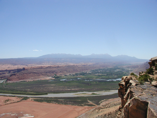 Moab Overlook from Golden Spike Trail