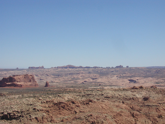 View of Arches National Park From Golden Spike Trail