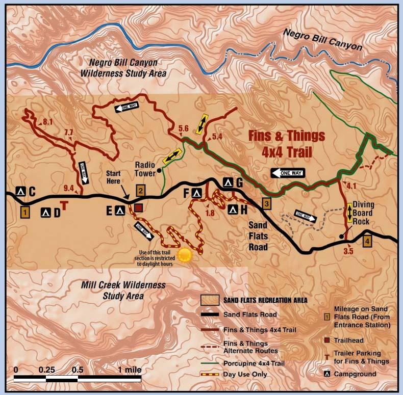 Fins n things Free  Trail Map