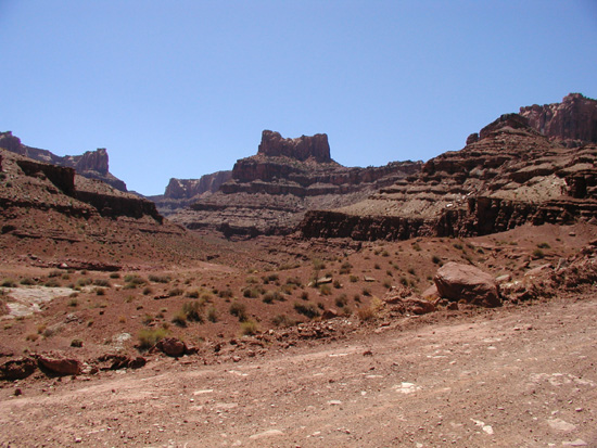 What does Dead Horse Point look like from below