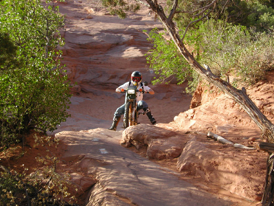 Slick Rock Dirt bike trail