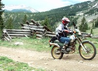 Cross Mountain dirt Bike trail