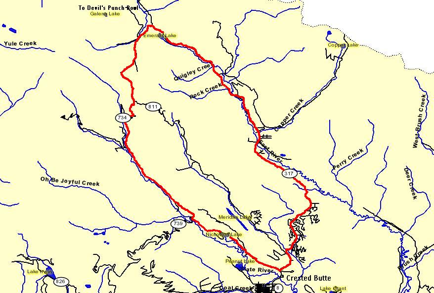 Slate And Gothic Road Trail Map And Pictures