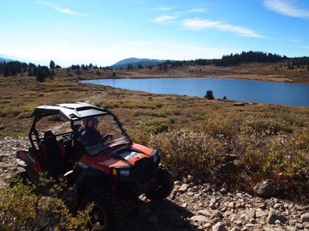 RZR at Taylor Lake near Taylor Pass Colorado