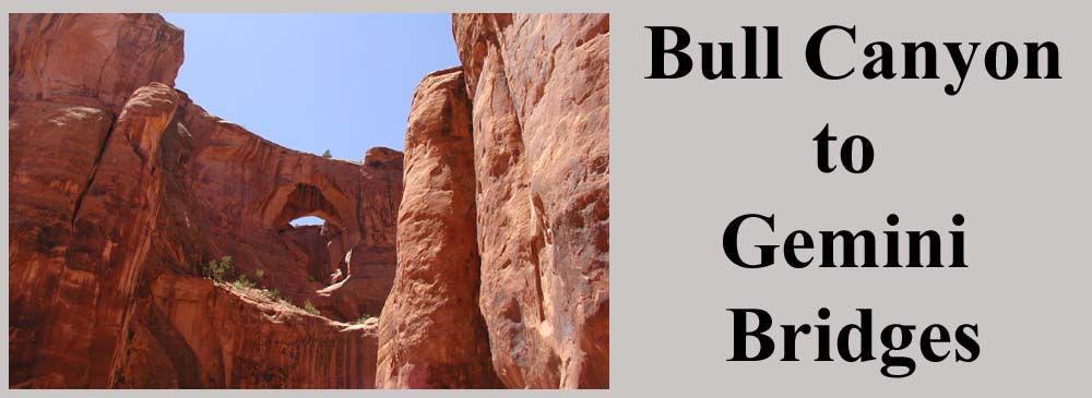 Bull Canyon to Gemini Bridges Trail Moab Utah