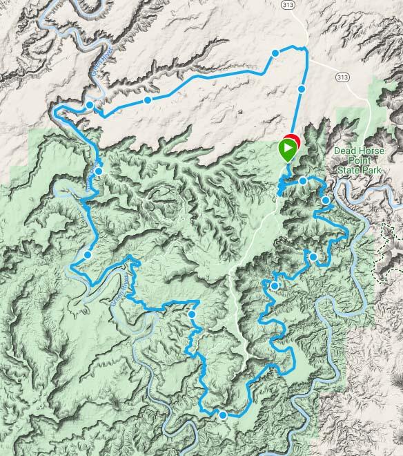 White Rim Trail Map Dual Sport