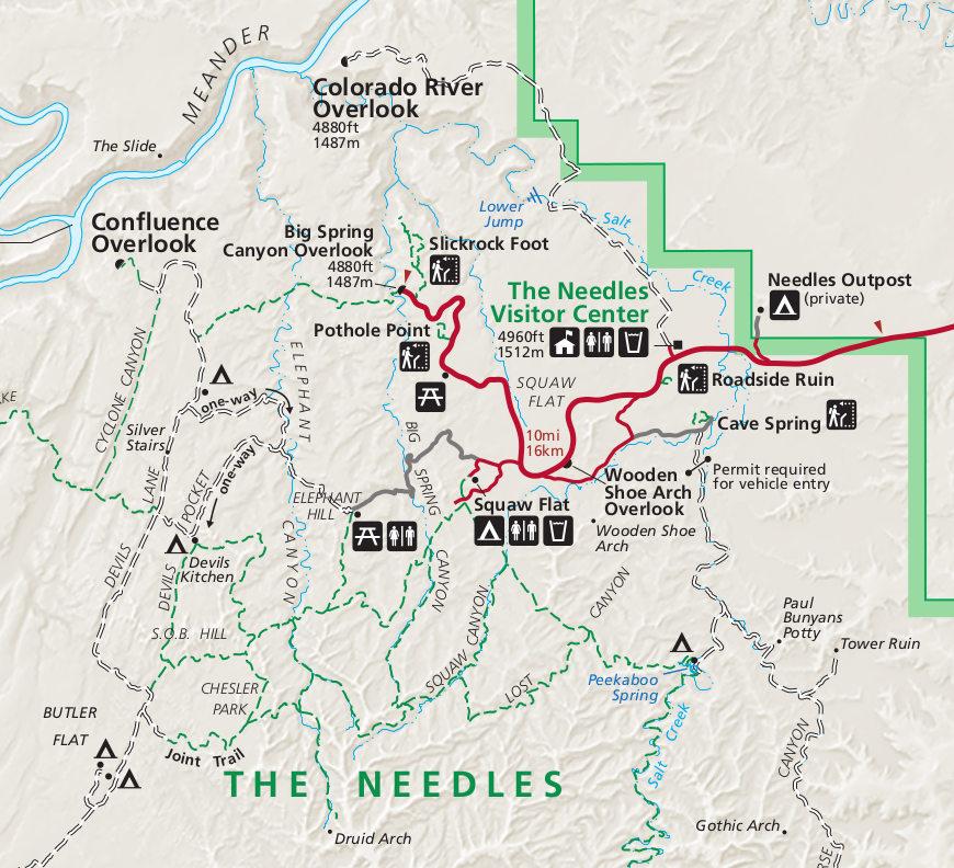 Free Canyonlands Needles Map