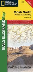 Moab North UTV Trail Map 500