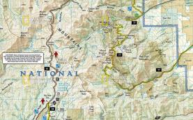 Trails Illustrated National Geographic Paiute ATV Trails Map 708