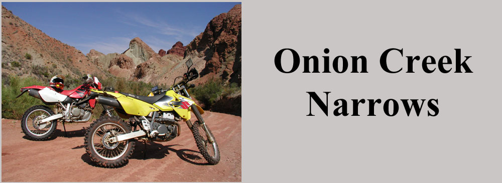 Onion Creek Narrows Trail Moab Utah