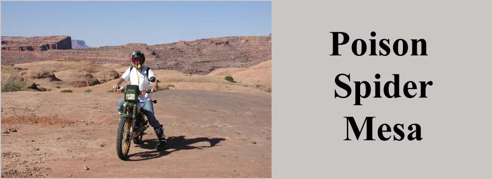 Poison Spider Mesa Motorcycle Trail Moab Utah